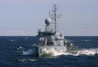 Minenjagdboot Laboe während Open Spirit 2003 in der Ostsee.