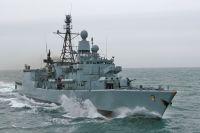 Die Fregatte KÖLN auf dem Transit nach Südafrika während des EAV 2008
