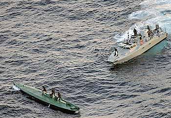 Marineforum - aufgebrachtes Drogen-U-Boot (Foto: mex. Marine)