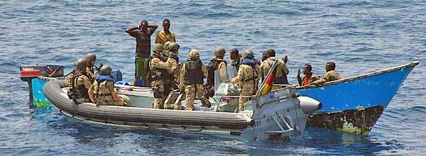 Marineforum - deutsches Boarding-Team stellt Piraten (Foto: Dt. Marine)
