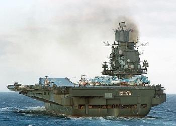 russischer Flugzeugträger KUZNETSOV 2008 in der Straße von Gibraltar (Foto: nn / INternet)