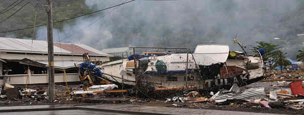 Marineforum - Samoa - nach dem Tsunami (Foto: US Navy)