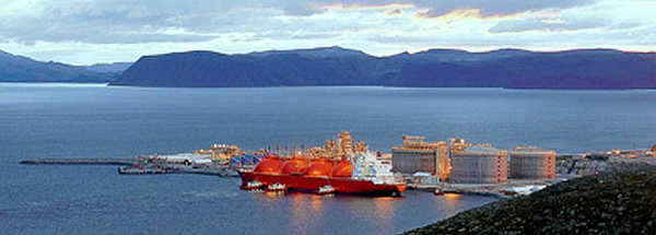 Marineforum - STATOIL Flüssiggaspier auf einer Insel vor Hammerfest