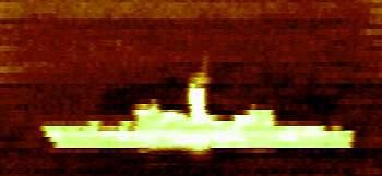 Marineforum - Wärmebild einer US-Fregatte der KNOX-Klasse (Foto:  NAVCWPNS)