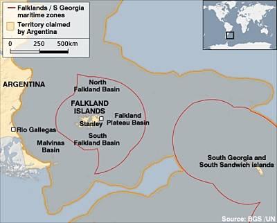 Marineforum - Karte: BBC (BGS/UN)