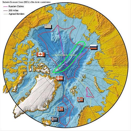 Nordpolarmeer Karte.Allgemein Arktis Wem Gehört Die Arktis Und Ihre Resourcen