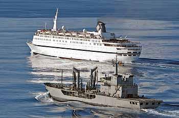 Marineforum - MARQUES DE LA ENSENADA begleitet die MELODY (Foto: span. Marine)