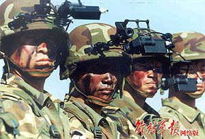 Sinodefence - 'Digitised Army': Soldiers of the SOF unit in the Chengdu Military Region equipped with digitised army soldier system (Source: PLA Daily)