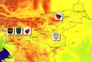 Karte slowenische 1st Brigade - map slovenian 1st brigade