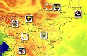 Karte slowenische 72. SAF Brigade - map slovenian 72nd SAF Brigade