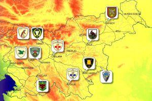 Karte slowenische Kampfeinsatzunterstützungskommando - map slovenian Combat Service Support Command