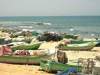 Marineforum Strand von Gaza wird Arbeitsplatz der Dahran (Foto: IMEMC)