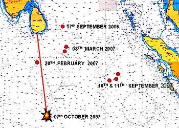 Marineforum Karte: MOD Srilanka