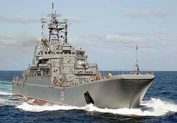 Marineforum - Landungsschiff YAMAL mit im Georgieneinsatz (Foto: Shipspotting)