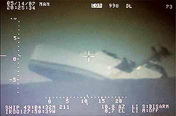 HURON sinkt nach Artilleriebeschuss (Foto: RCaN)
