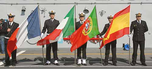 Marineforum - Kommandowechsel bei der EUROMARFOR (Foto: ital. Marine)