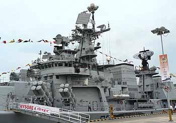 Marineforum indischer Zerstörer MYSORE in Changi (Foto: Karr)