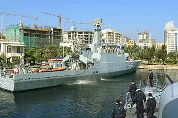 Marineforum - dänische VIBEN im Hafen von Beirut (Foto: Dubnitzki)