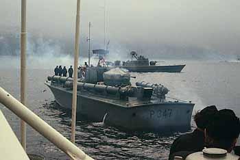 Marineforum - Fregatte TJELD-Klasse (Hintergrund STORM)  (Foto: Archiv Frank)