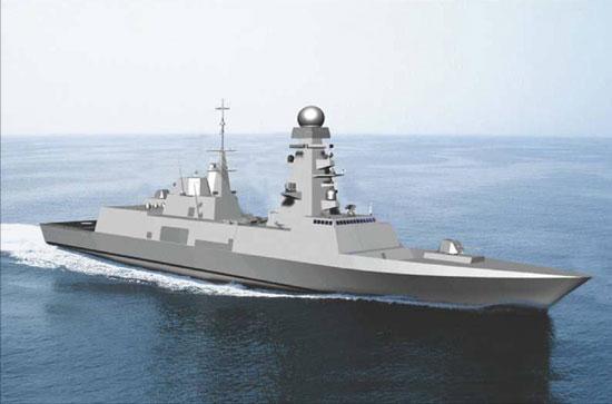Artist's Impression der neuen Fregatte (Projekt FREMM) für die italienische Marine (Bildquelle: Renk)