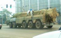 Sinodefence - DF-25 missile TEL being mobilised via railway or road