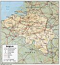 Karte Belgien Map Belgium