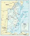 Karte Belize Map