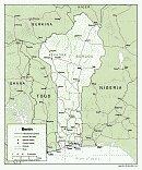 Karte Benin Map