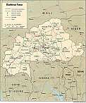 Karte Burkina Faso Map