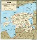 Karte Estland Map Estonia