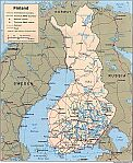 Karte Finnland Map Finland