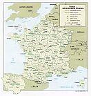 Karte Frankreich Map France
