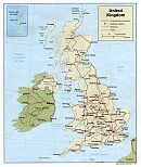 Karte Großbritannien Map United Kingdom
