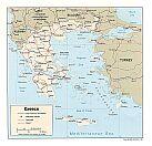 Karte Griechenland Map Greece