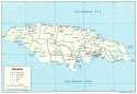 Karte Jamaika Map Jamaica