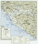 Karte Kroatien Map Croatia