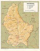 Karte Luxemburg Map Luxembourg