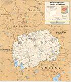 Karte Mazedonien Map Macediona