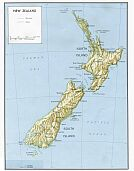 Karte Neu Seeland Map New Zealand