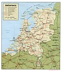 Karte Niederlande Holland Map The Netherlands