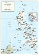 Karte Philippinen
