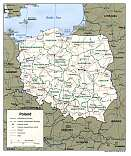 Karte Polen Map Poland