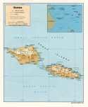 Karte Samoa Map