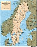 Karte Schweden Map Sweden