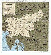 Karte Slowenien Map Slovenia