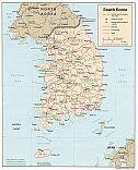 Karte Südkorea