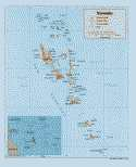 Karte Vanuatu Map