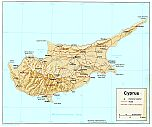 Karte Zypern Map Cyprus