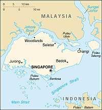 Karte Singapur