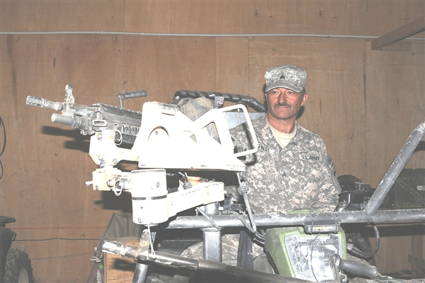 Afghanistan —  Face of Defense: Guardsman Creates With Metal